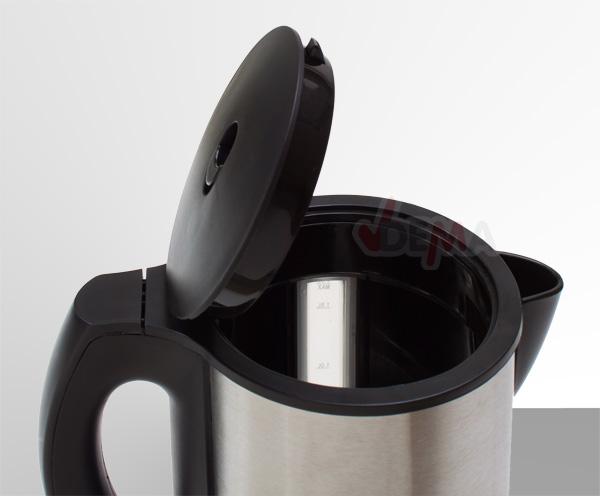 Bouilloire sans fil - 2000 W - 1,7 L - acier inoxydable
