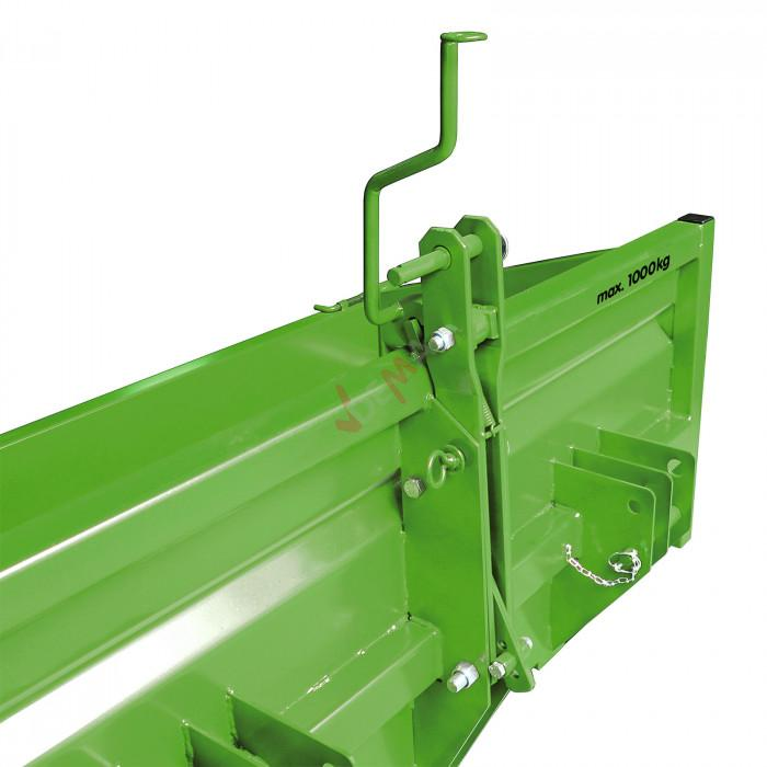Benne / bennette arrière pour tracteur 1500 S KAT I-KAT II 0,55 m3
