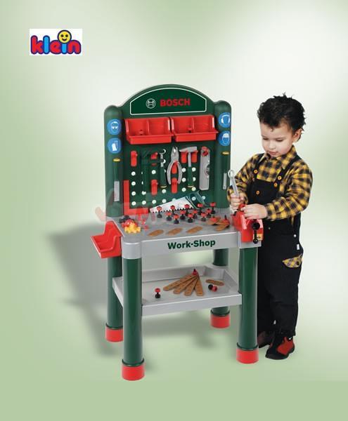 tabli enfant work shop bosch 75 accessoires theo klein tout ge fille. Black Bedroom Furniture Sets. Home Design Ideas