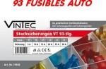 Assortiment de 93 fusibles pour voiture en coffret - VINTEC