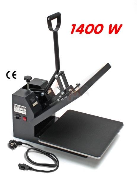 Presse à chaud transfert pour textile 1400 W Normes CE - 380 x 380 mm