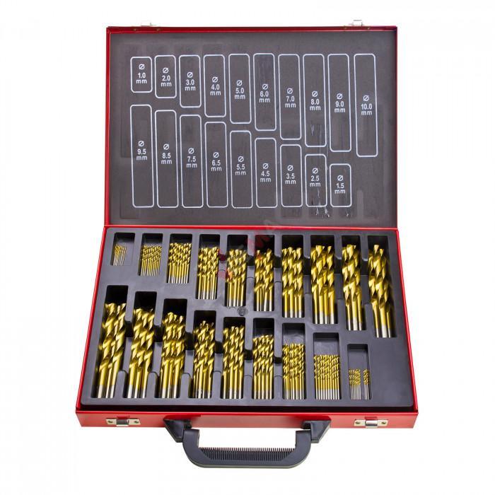 Forets TITANE HSS - de 1 à 10 mm en coffret 170 pièces