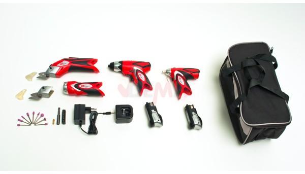 Pack 6 mini machines sans fil LI-ION 3,6V 1000mAh accessoires sac