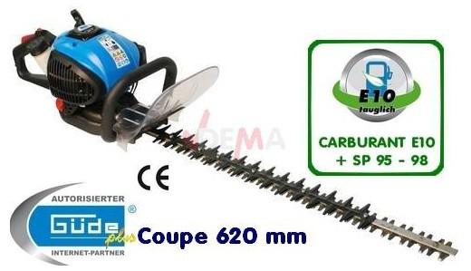 Taille haie thermique essence lame 620mm poignée pivotante 25.4cc