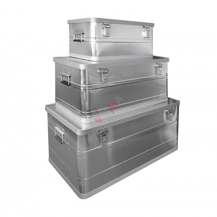 Ensemble 3 cantines  ALU - Coffres de chantier 45/90/140 litres