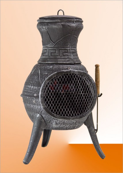 brasero barbecue chemin e ext rieure fonte malaga grill chauffage plein air camping. Black Bedroom Furniture Sets. Home Design Ideas