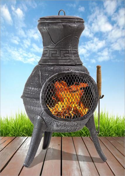 Brasero barbecue cheminée extérieure fonte MALAGA Grill chauffage