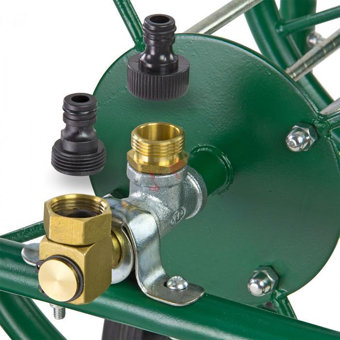 Enrouleur XL vide Ø int 100 mm - largeur tuyau 350 mm métal mobile