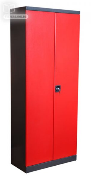 armoire 3 tiroirs - rouge et noire - mobilier d'atelier