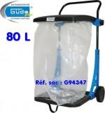 GÜDE - Poubelle mobile de jardin GA80F - 80 L