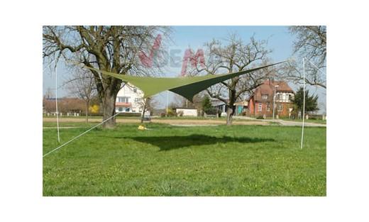 Parasol auvent 5 x 5 m vert toile cousue poly thyl ne jardin ext rieur plei - Auvent de jardin en toile ...