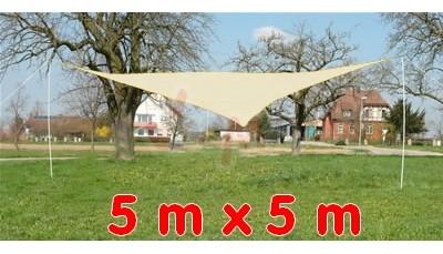 Parasol auvent 5 x 5 BEIGE toile cousue polyéthylène jardin extérieur