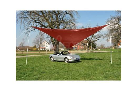 Parasol - Auvent rouge 3,6 x 3,6 m