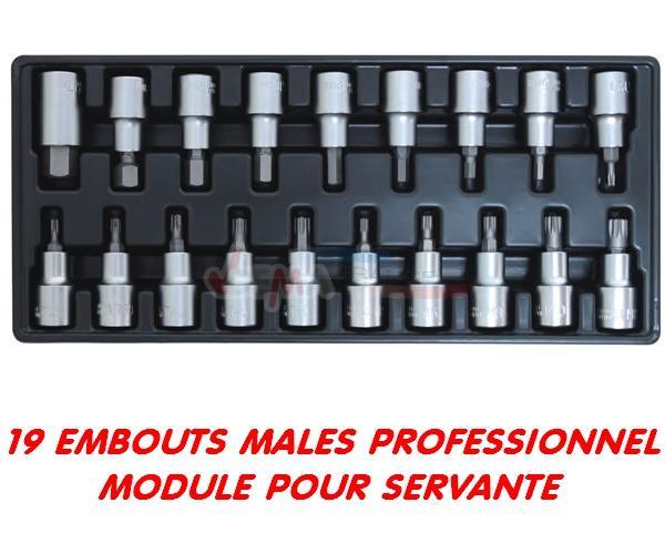 Module 19 douilles embouts mâles - professionnel