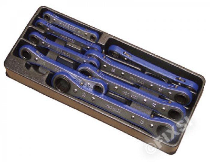 Module 8 clés à oeil à cliquet pour servante - Chrome Vanadium -