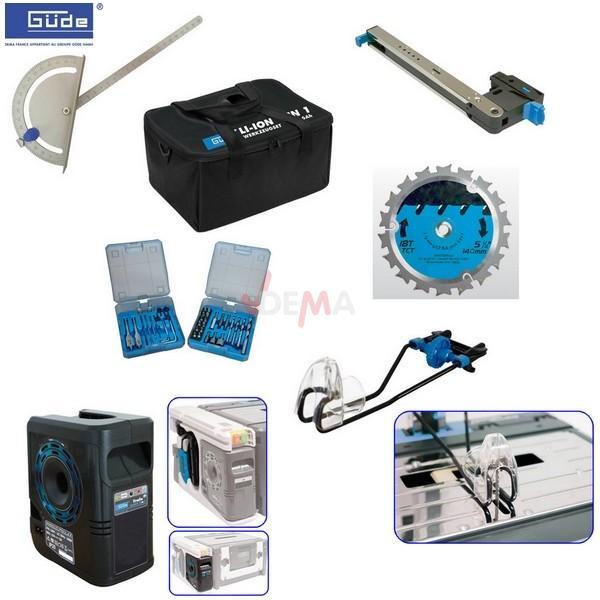 Combiné Li-ion 18 V portatif et Atelier Perceuse/visseuse/Scie/lampe