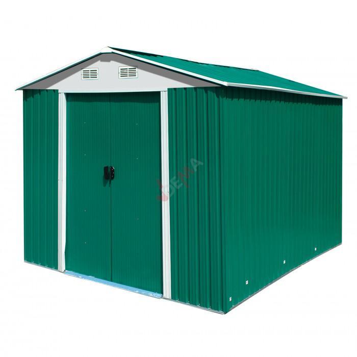 """Abri de jardin en métal vert """"Leeds"""""""