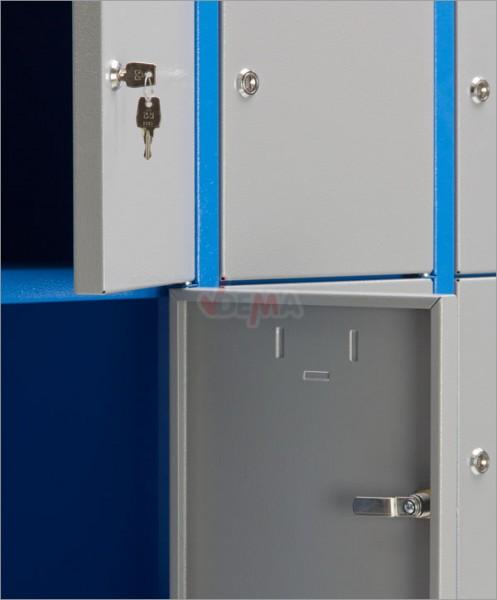 Armoire 15 casiers - collectivités - atelier - Bleu/Gris