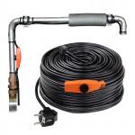 Câble chauffant - 8 m - 128 W - avec thermostat antigel