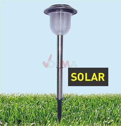 Lampe solaire  - acier inoxydable