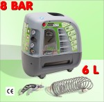 Compresseur AIR JET 6/1850 - 8 bar - 6 L - avec accessoires
