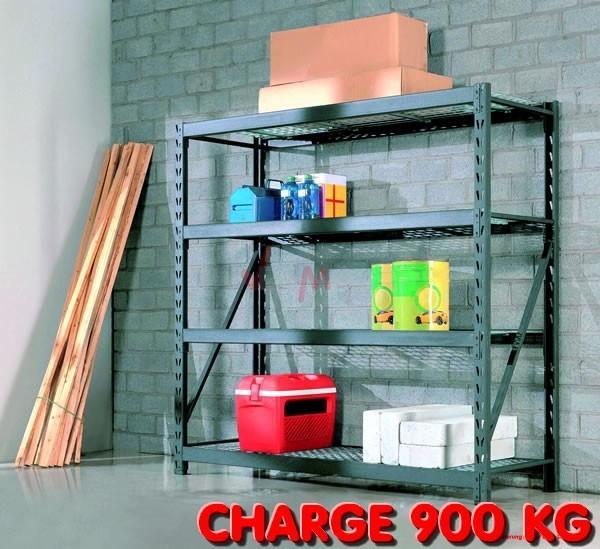 Rayonnage galvanisé - Etagère pour Charge lourde 900 kg