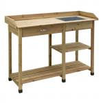 Table de préparation / rempotage pour plantes 1170 x 450 x 910 mm