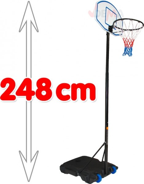 Jeu de basket avec support hauteur maxi 2480 mm - Panier de basket