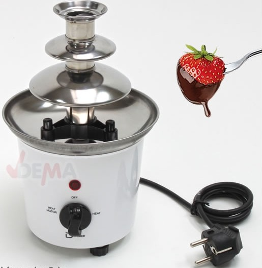 Fontaine à chocolat simple - 230 V - 60 W - 140 mm Ø 16/25 mm