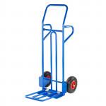 Diable chariot manutention charge maxi 150 kg acier solide pneus 80 mm