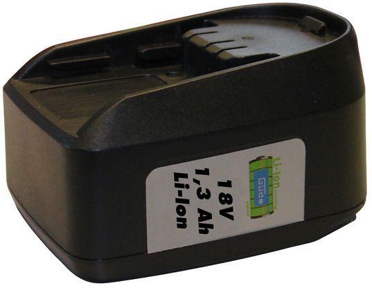 Batterie de remplacement à accu LI-ION 18 V-1,3 AH