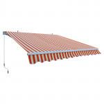 Store banne alu - Marquise extérieure orange - auvent 3 x 2,5 m