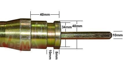 Aiguille pour vibreur à béton D55398 - 8 M