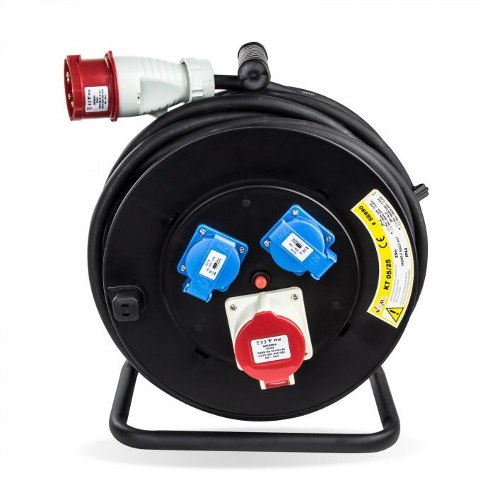 Enrouleur câble éléctrique 25m H05RR-F 5x2,5 mm2 - 25 m