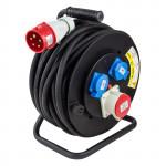 Enrouleur câble éléctrique 25m H05RR-F 5x2,5 mm2 - Rallonge 25 m