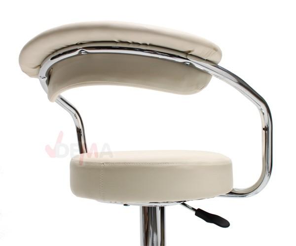 Tabouret bar table haute crème - réglable de 630 à 850 mm - Lot de 2