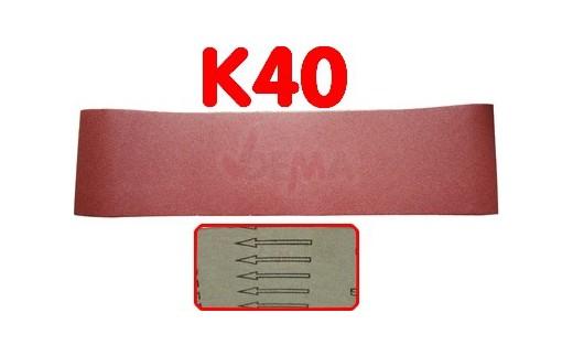 Bande abrasive 150 x 1220 mm  pour ponceuse D25082 - K40