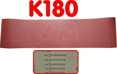 Bande ponceuse 150 x 1220 mm  pour D25082 - K180