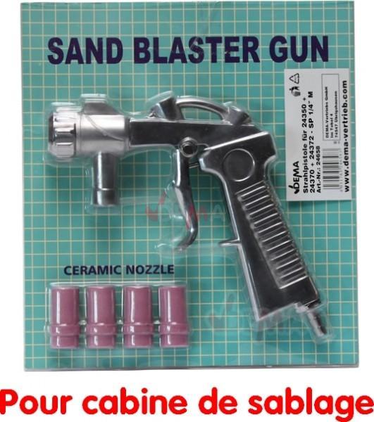 Pistolet et buses pour cabine de sablage et sableuse mobile