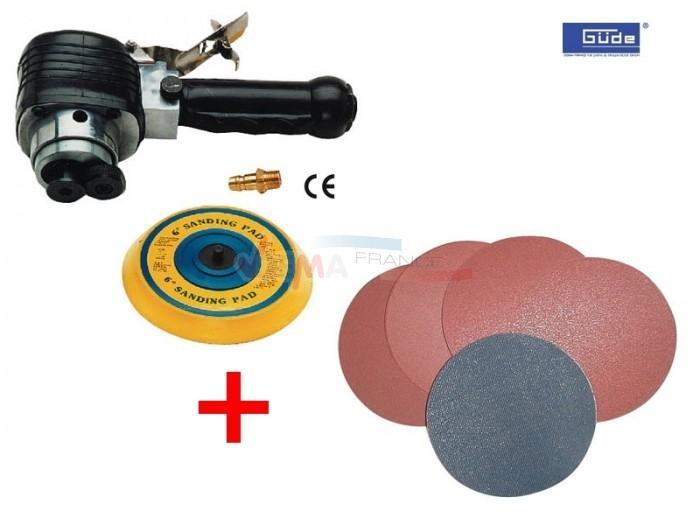 Ponceuse excentrique pneumatique - disques + auto-agrippant