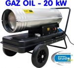 Chauffage d'atelier - Canon de chauffage canon à air diesel - 20 kW