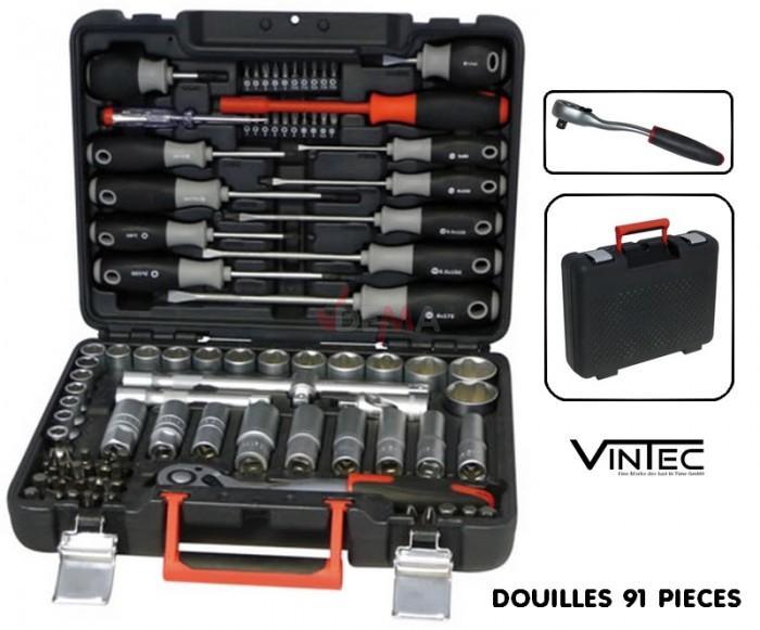 """Douilles et accessoires VT91 - 1/2"""" en coffret"""