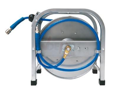 Enrouleur tuyau pneumatique 30 M - design métal - norme Euro NW