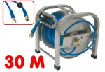 Enrouleur tuyau pneumatique 30 M -air comprimé - métal - norme Euro NW