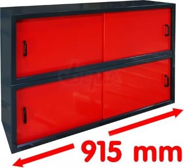 Armoire à suspendre - portes coulissantes - Long 915 mm