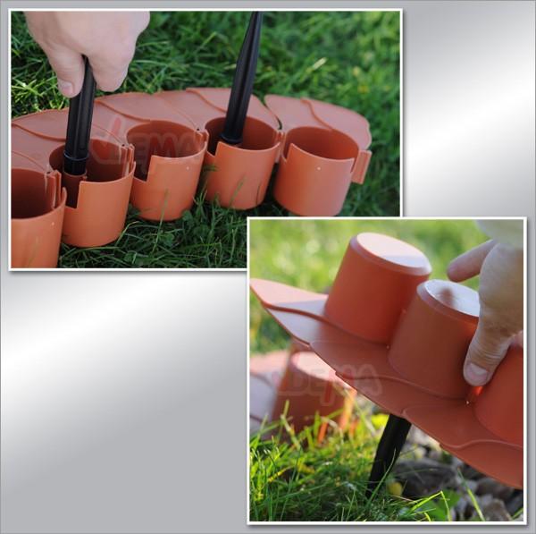 Bordure bordurette de jardin plastique rk 4050 avec for Bordurette de jardin