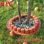 Bordure - bordurette de jardin plastique RK 4050 avec chemin de câble