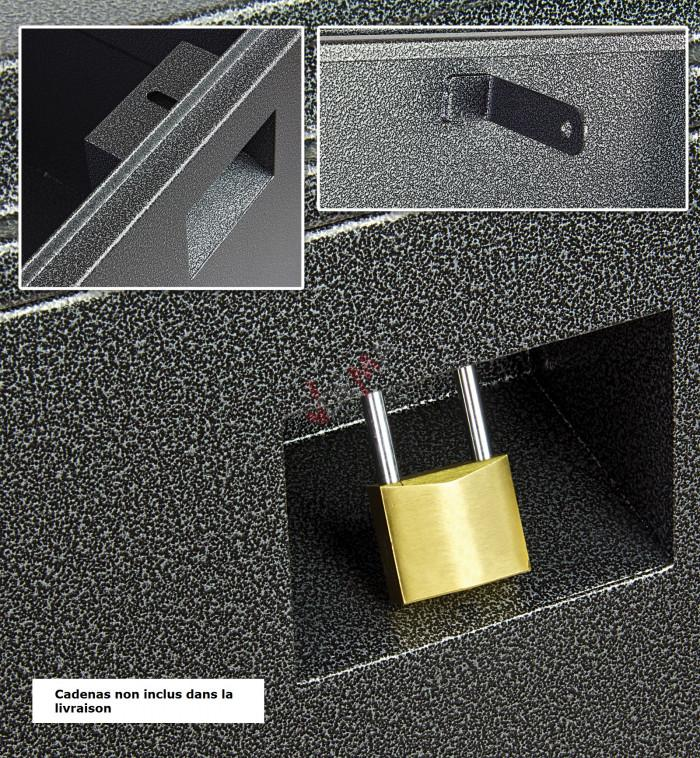 Coffre de chantier ACIER verrouillable - 420 Litres - gris