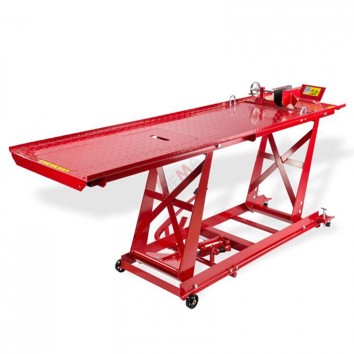 Pont l vateur moto avec trappe hydraulique 450 kg - Table leve moto hydraulique ...