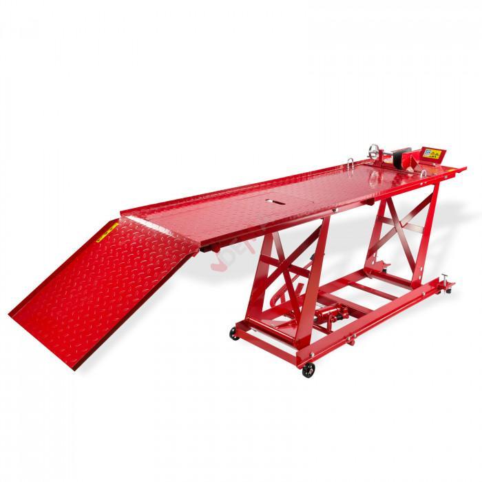 Pont élévateur moto avec trappe - Hydraulique - 450 kg